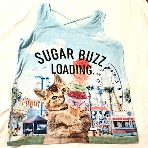 Justice sugar kitty shirt 18 girls